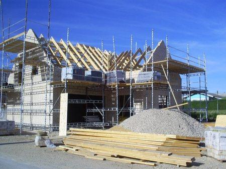 Murer arbejde Haslev, Faxe, hus er ved at blive bygget